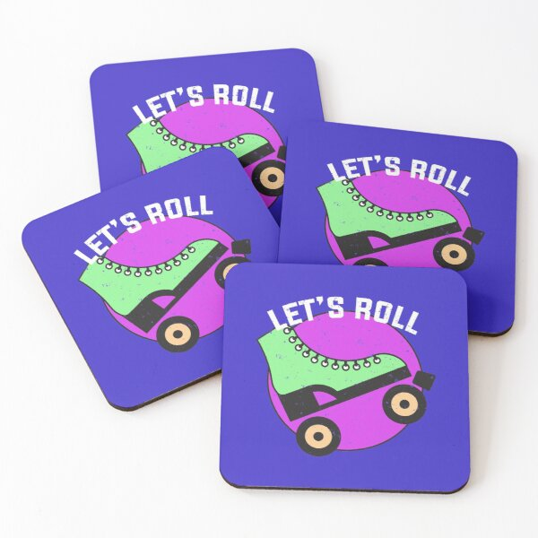Roller Skate Design for Lovers of Roller Skating Coasters (Set of 4)