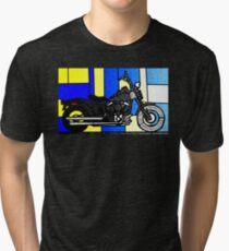 harley glass 2 Tri-blend T-Shirt