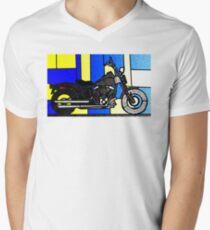 harley glass 2 Mens V-Neck T-Shirt