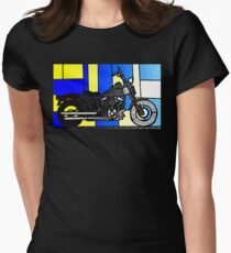 harley glass 2 Women's Fitted T-Shirt