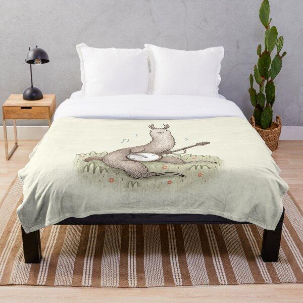 Banjo Llama Throw Blanket