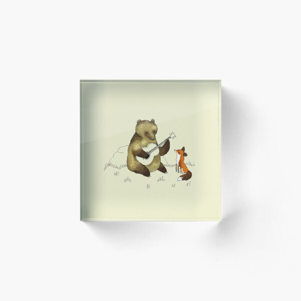 Bear & Fox Acrylic Block