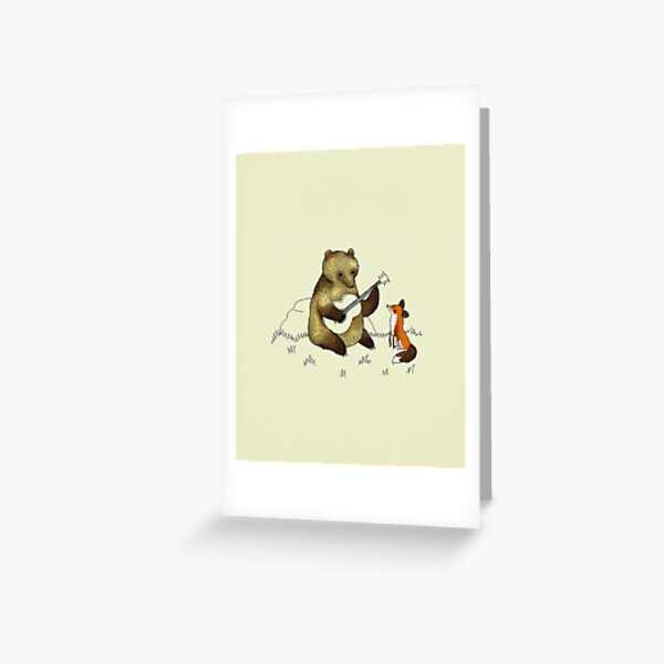 Bear & Fox Greeting Card