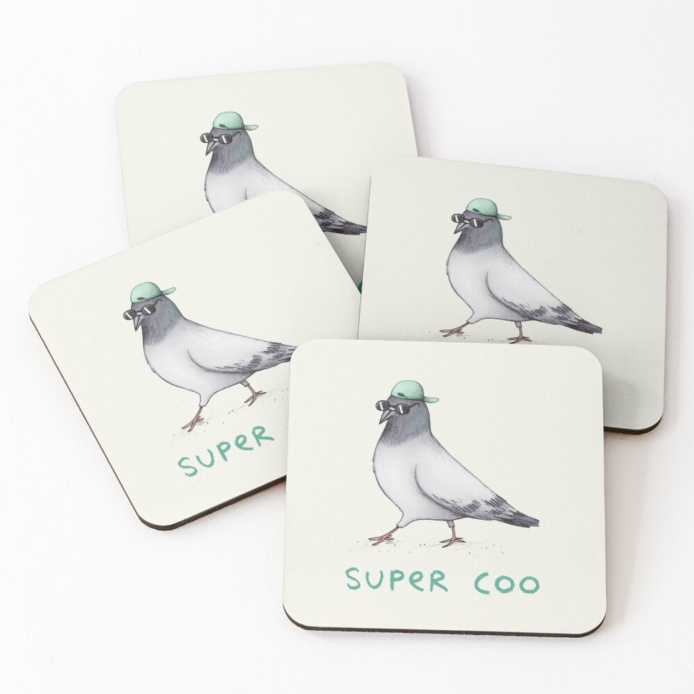 Super Coo Coasters (Set of 4)