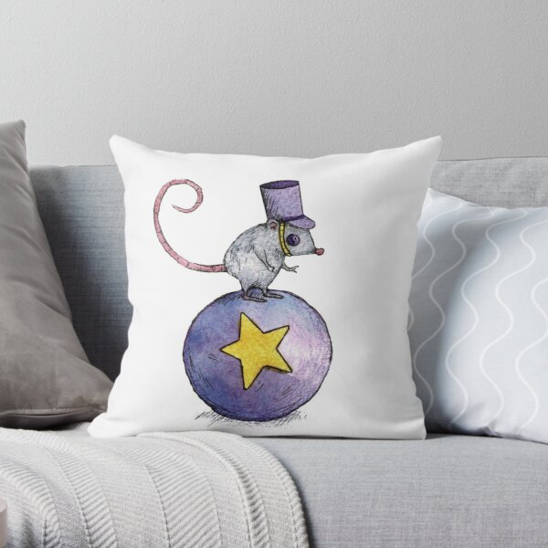 Twitchy Witchy Girl Throw Pillow