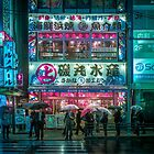 Cyberpunk vibes in Akihabara by Guillaume Marcotte