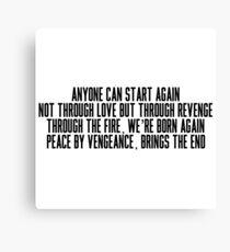 Anyone Can Start Again Canvas Print