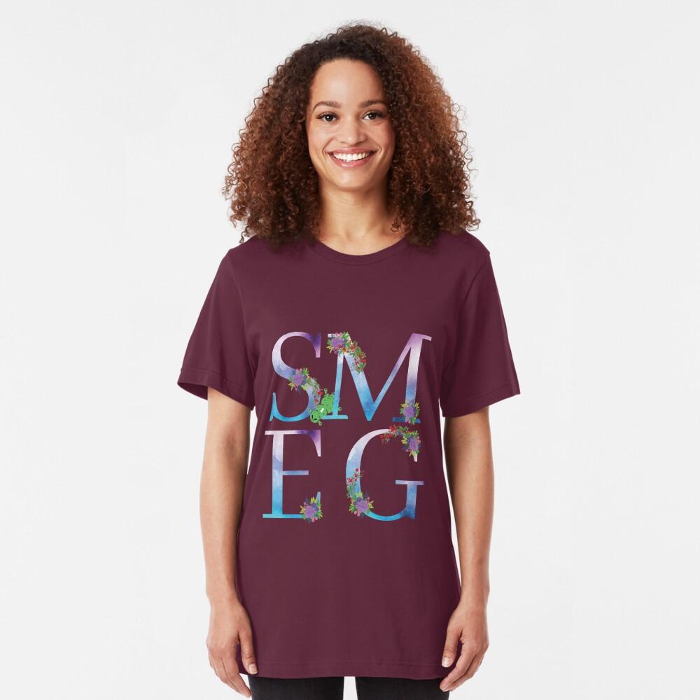 Watercolor Floral Monogram Smegged Up Slim Fit T-Shirt
