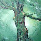 Forest Mother - celtic goddess by Cheryl White