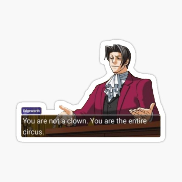 Miles Edgeworth Sticker