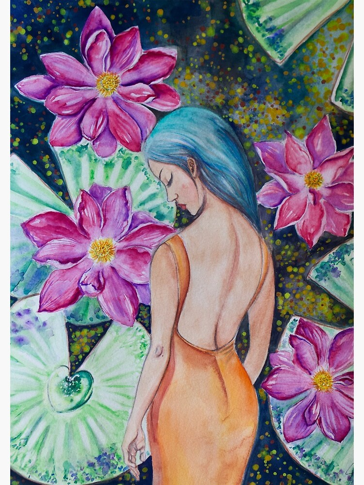 Sleeping in the Lily Pond (watercolor) by sillysallymoon