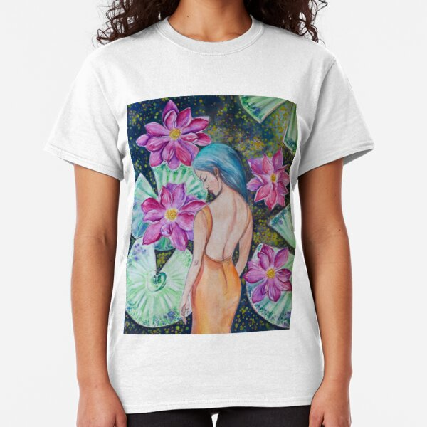 Sleeping in the Lily Pond (watercolor) Classic T-Shirt
