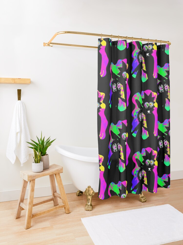 Alternate view of Rick and morty Shower Curtain