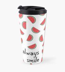 Always Smile Watermelon Pattern Travel Mug