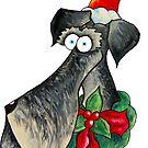 Christmas Schnauzer  by Jokertoons