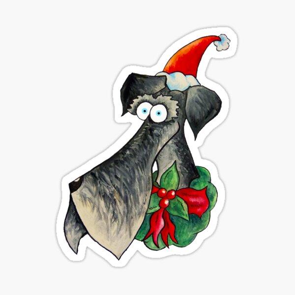 Christmas Schnauzer  Sticker