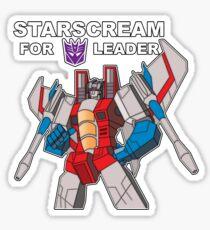 Starscream For Decepticon Leader Sticker