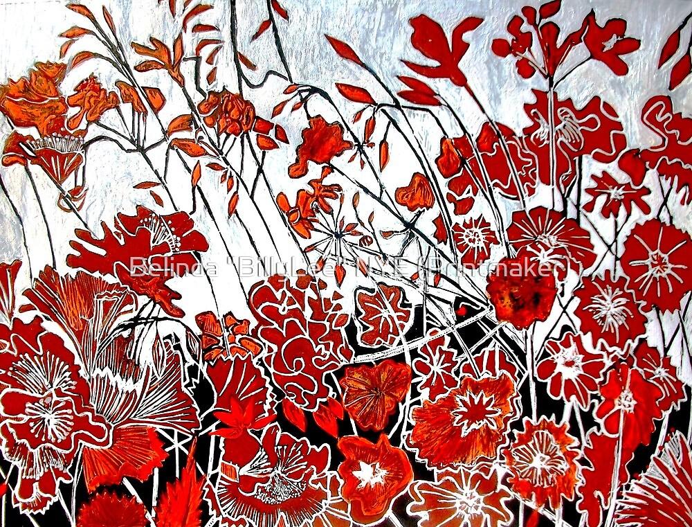 """Symphony in Red by Belinda """"BillyLee"""" NYE (Printmaker)"""