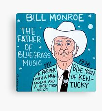 Bill Monroe Bluegrass Pop Folk Art Canvas Print