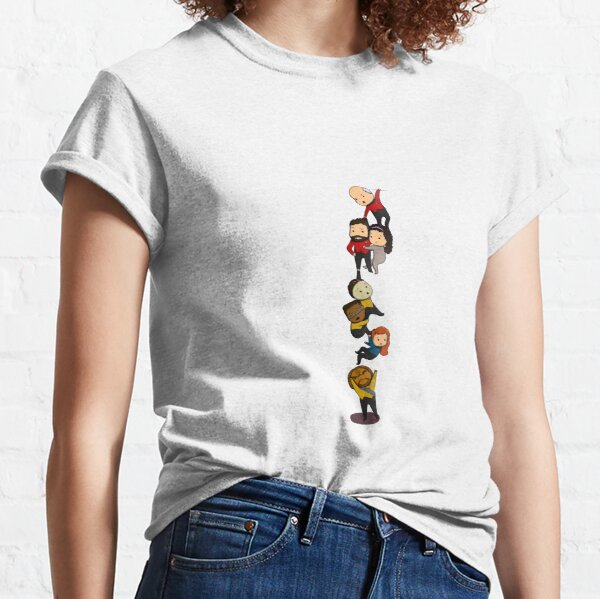 TNG Crew Chibi-style Classic T-Shirt