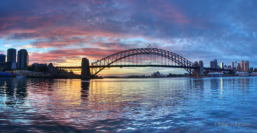 Colours Of Morning - Sydney Harbour, Sydney Australia by Philip Johnson
