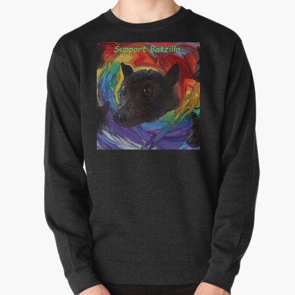 Batzilla - Rainbow Bats Support Batzilla Pullover Sweatshirt