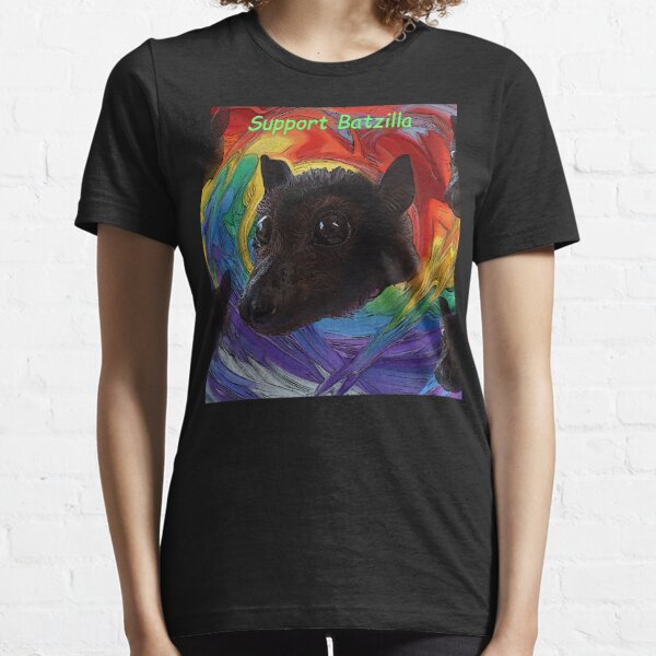 Batzilla - Rainbow Bats Support Batzilla Essential T-Shirt