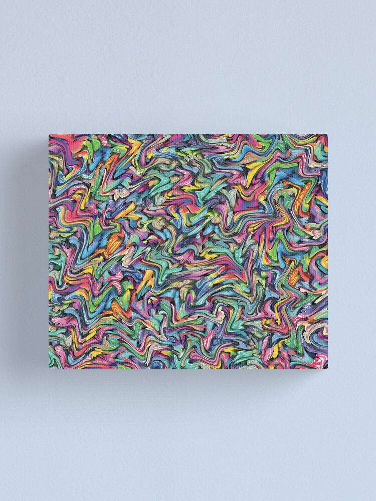 Colorful Texture Wallpaper Background Pattern Vibrant Colors Canvas Print By Disordershop Redbubble