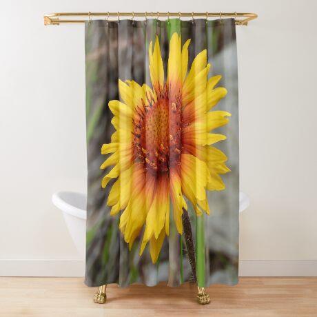 Blanket Flower Shower Curtain