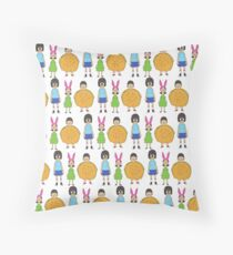 Belchers, from the womb to the tomb Throw Pillow