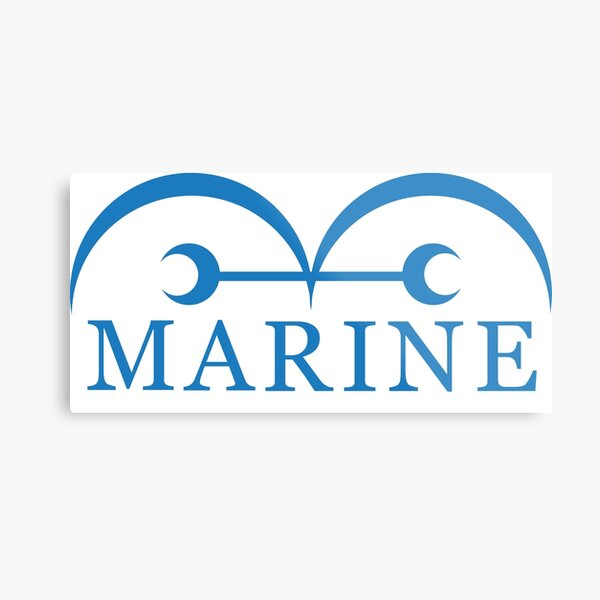 One Piece Marine Metal Print