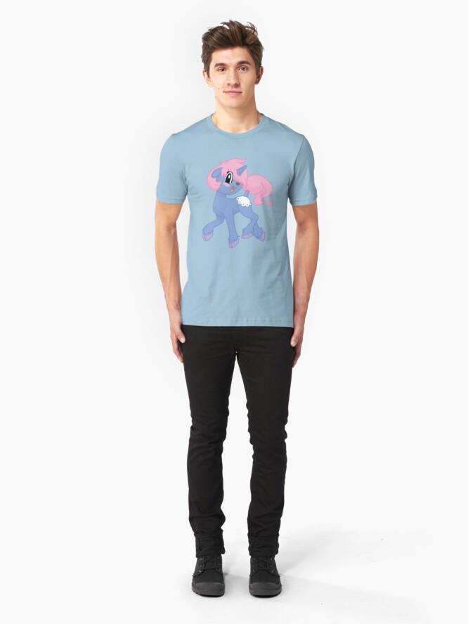 Alternate view of Una the unicorn Slim Fit T-Shirt