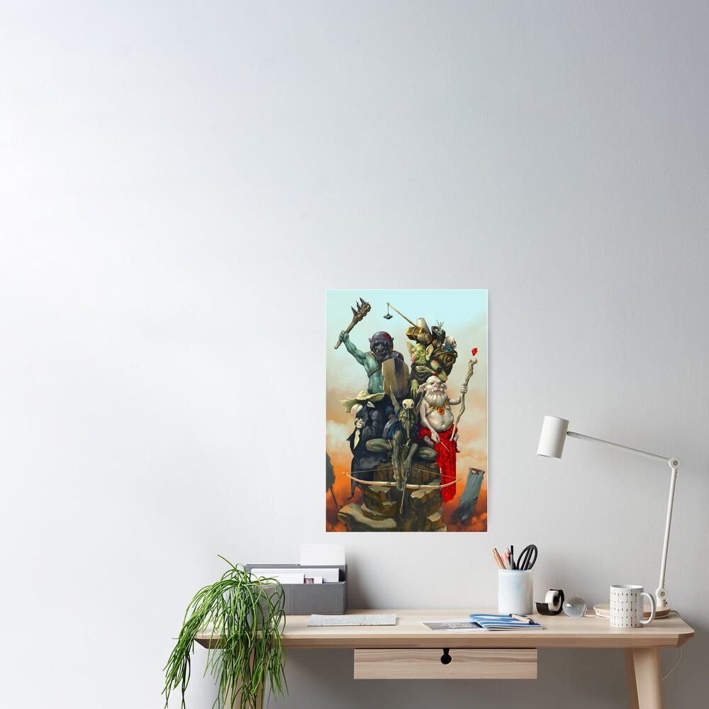 Goblin Adventuring Party | Digital Illustration Poster