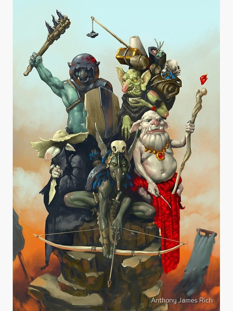 Goblin Adventuring Party | Digital Illustration by AJRart
