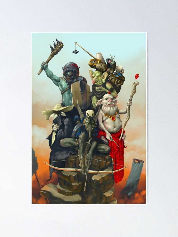 Alternate view of Goblin Adventuring Party | Digital Illustration Poster