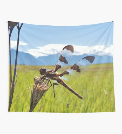 Black & White Dragonfly Wall Tapestry