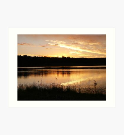Twilight over Lake Boondooma Art Print