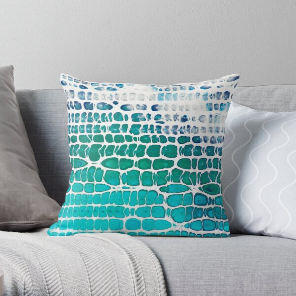 Chameleon Cells of the Deep Throw Pillow
