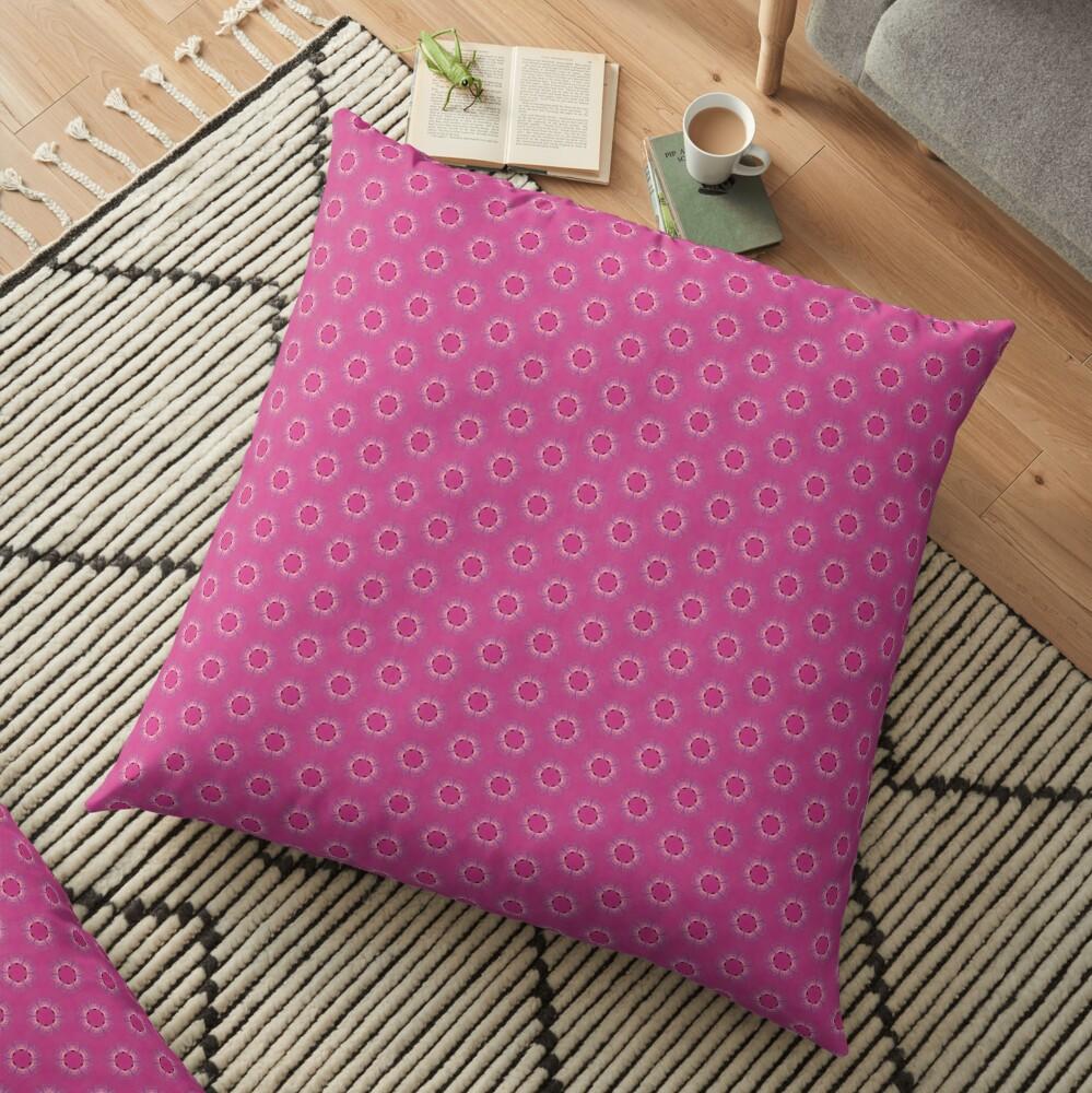 Pink Pyrite Pattern Design Floor Pillow