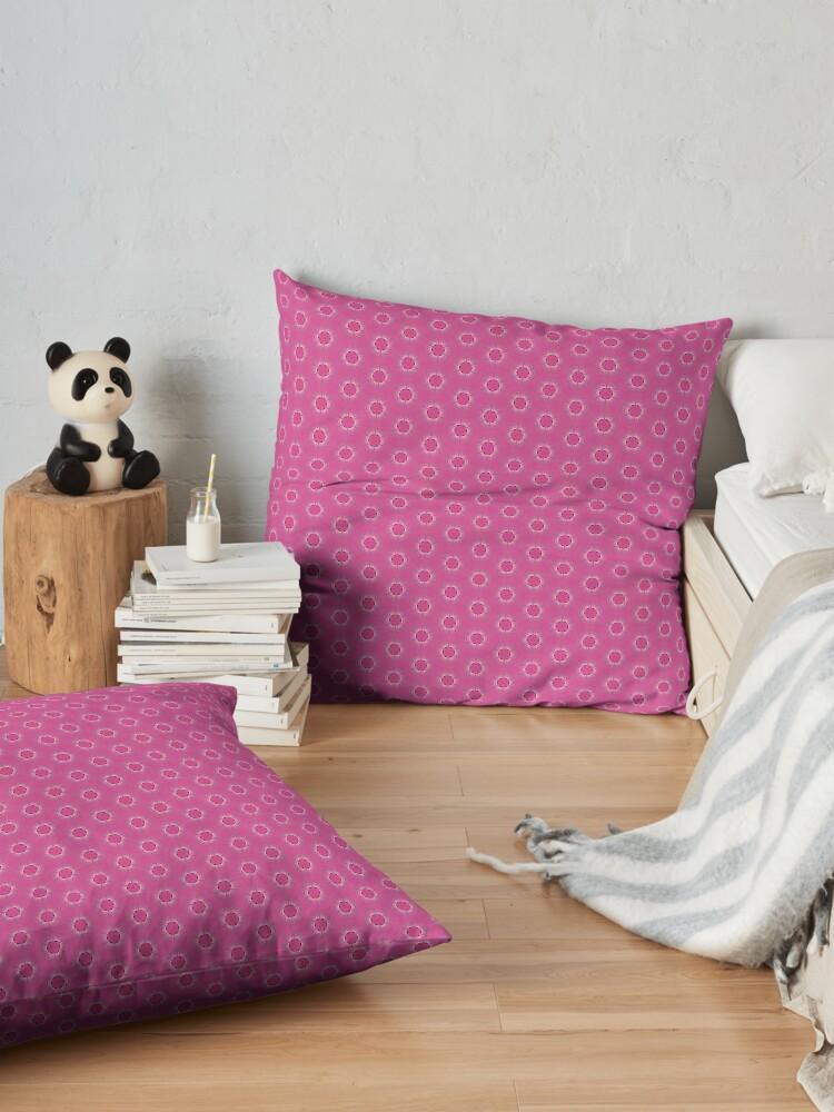 Alternate view of Pink Pyrite Pattern Design Floor Pillow