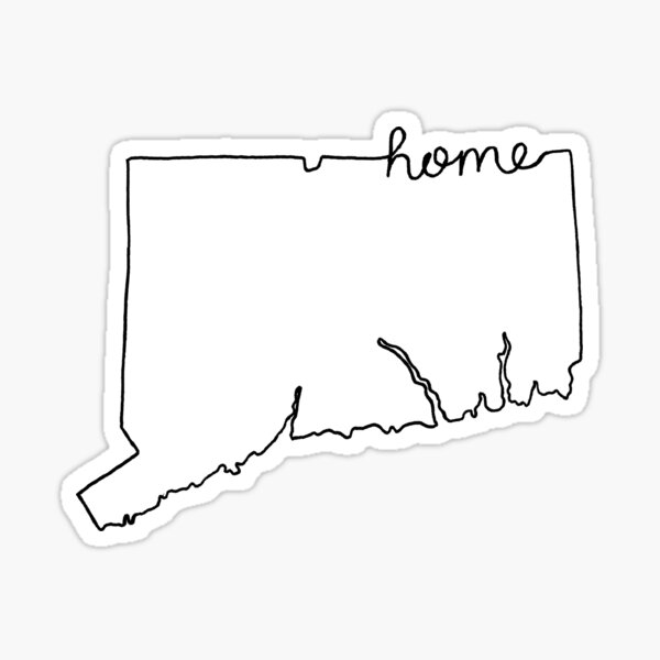 Connecticut Home State Outline Sticker