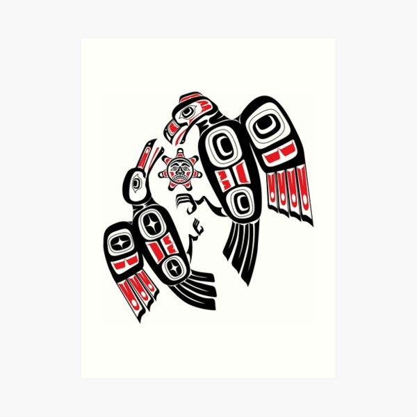 Haida Eagle Battles Raven for the Light Art Print