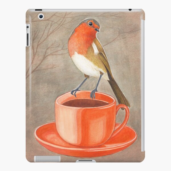 coffee loving robin bird iPad Snap Case