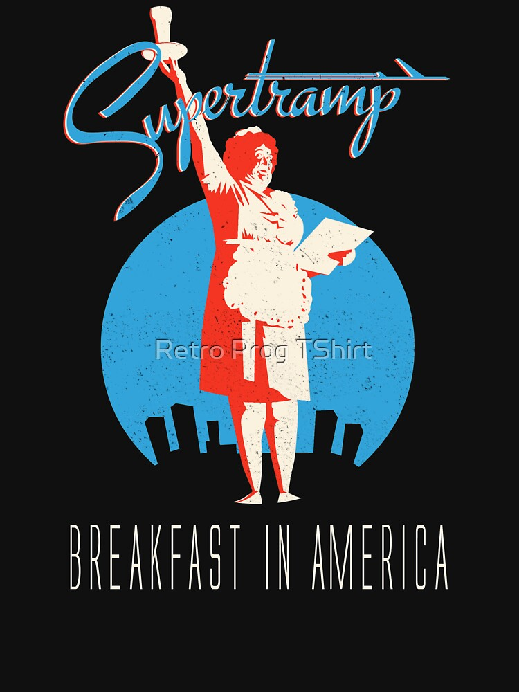Supertramp Breakfast in America by retroprogtshirt