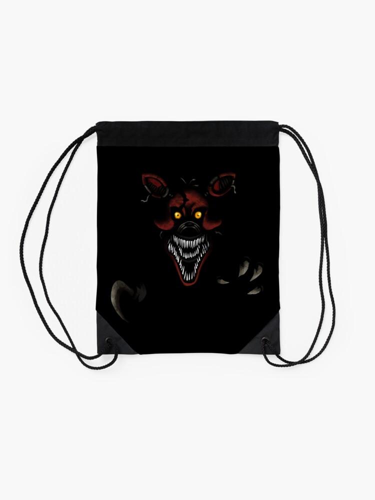 Alternate view of Five Nights at Freddy's - Fnaf 4 - Nightmare Foxy Drawstring Bag