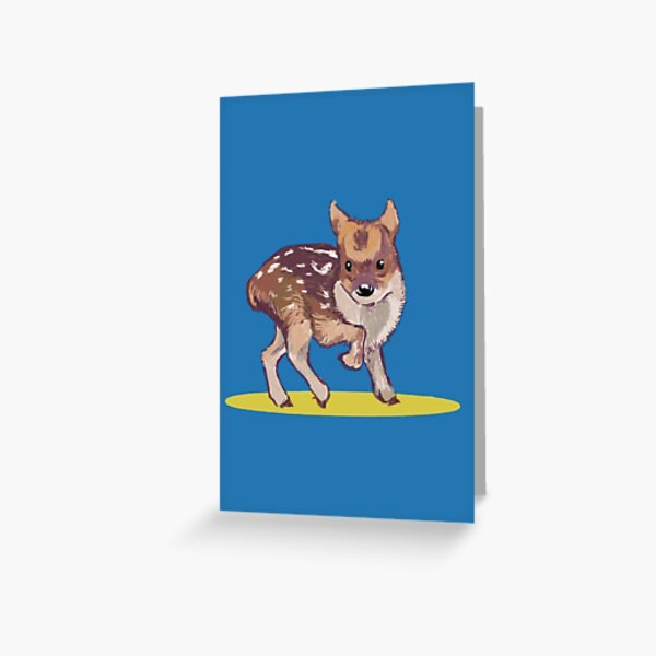 A Little Pudu Greeting Card