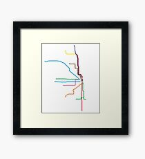 "Chicago ""L"" Map Framed Print"
