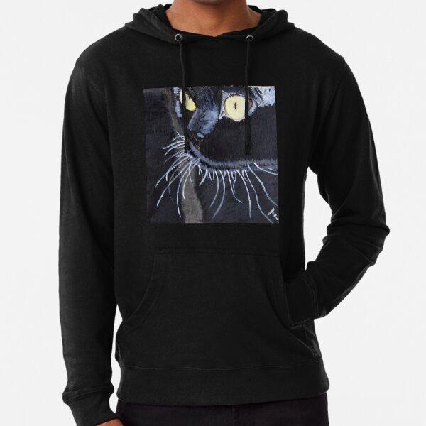 black cat Lightweight Hoodie