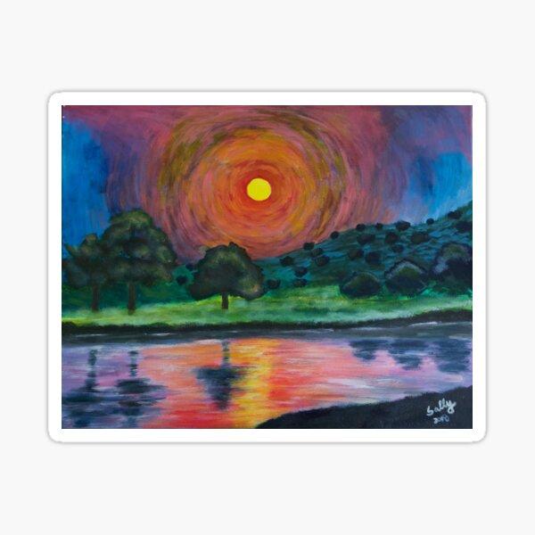 Ultimate Sunset (acrylic painting) Sticker