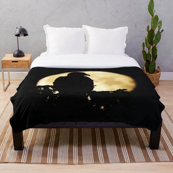 Bald Eagle Silhouette Throw Blanket